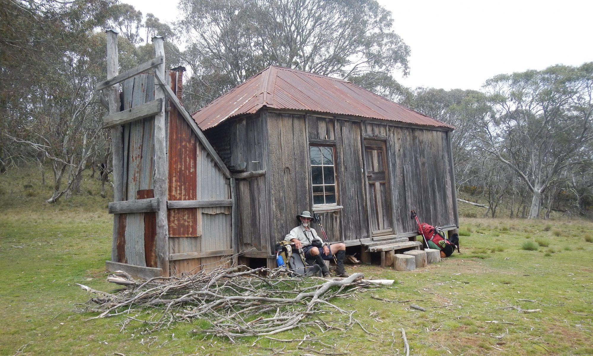 Old bush hut and Merv