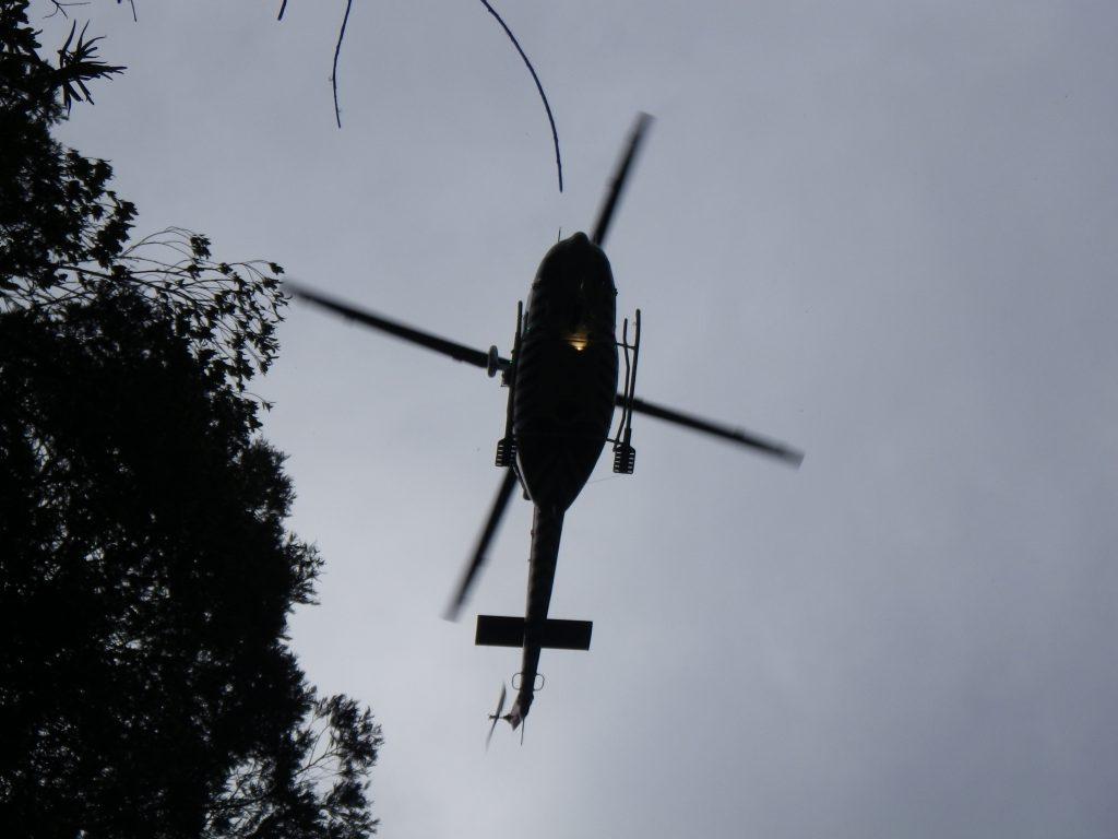 Combienbar helicopter overhead