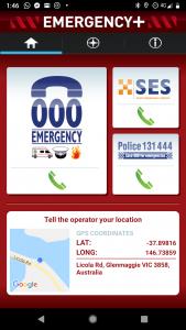 Emergency+ app screenshot 01