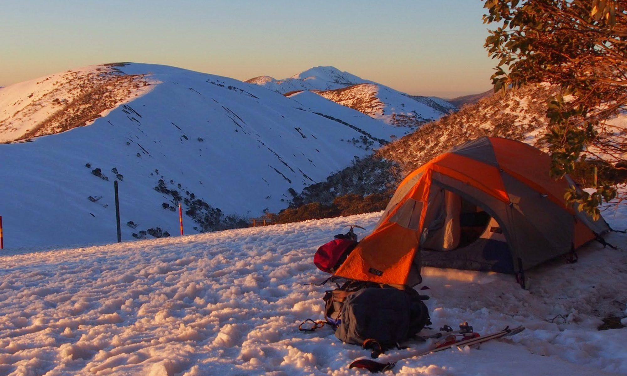 Snow camping on Razorback, Victoria