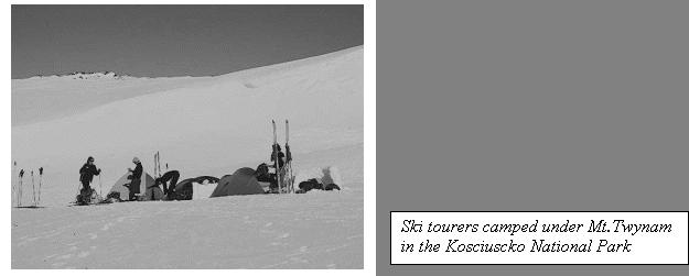 Ski tourers at Mount Twynam